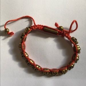 Red Adjustable Skull Bracelet